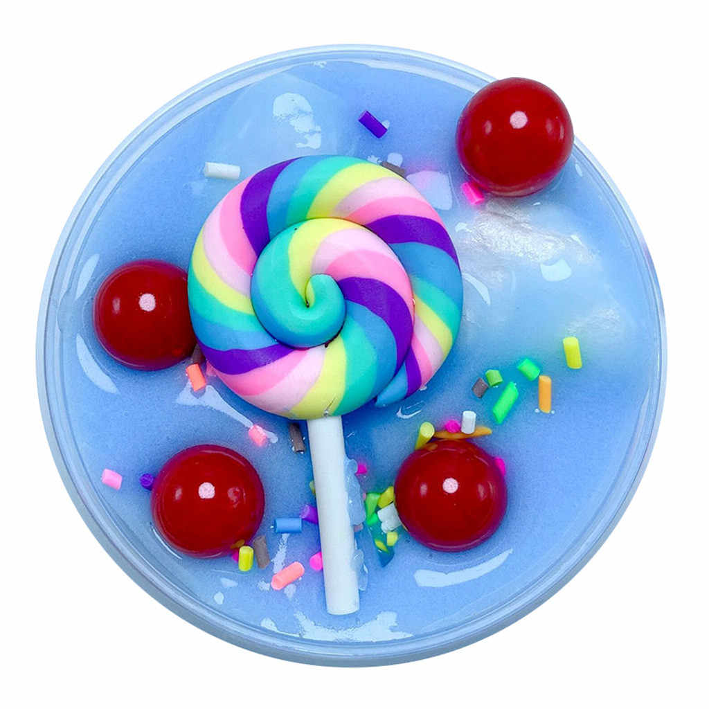 Relax toys squishy Charm Cute Lollipop Butter Slime Stress squishies soft Children Kid Funny Toy Gift 60ml squishy G300128