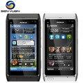 """Original nokia n8 mobile teléfono 3g wifi gps 12mp cámara 3.5 """"pantalla táctil 16 gb de almacenamiento del teléfono barato"""