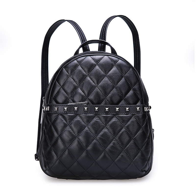 ФОТО Korean fashion sheepskin shoulder bag ladies backpack leather bag