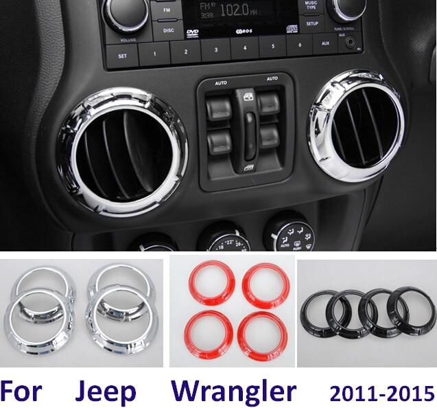 Acessórios Interior Para Jeep Wrangler Controlador Central Painel Ar  Condicionado Ventilação Adesivo Cobrir 2011 2012 2013 2014 2015 Em De No  AliExpress.com ...