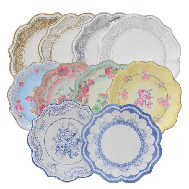 10 Colors 12pcs/lot Retro Paper Plates Party Decoration Supplies Vintage Flowers Birds Disposable Tableware  sc 1 st  AliExpress.com & 10 Colors 12pcs/lot Retro Paper Plates Party Decoration Supplies ...