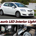 6 X Error Free Car LED Bright Vehicle Interior Map Dome Door Lights Kit Package for auris accessories 2006-2016