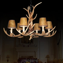 Artistic Antler Featured Chandelier Wh 6 Lights for 2015 New Lighting Chandelier Free Shipping