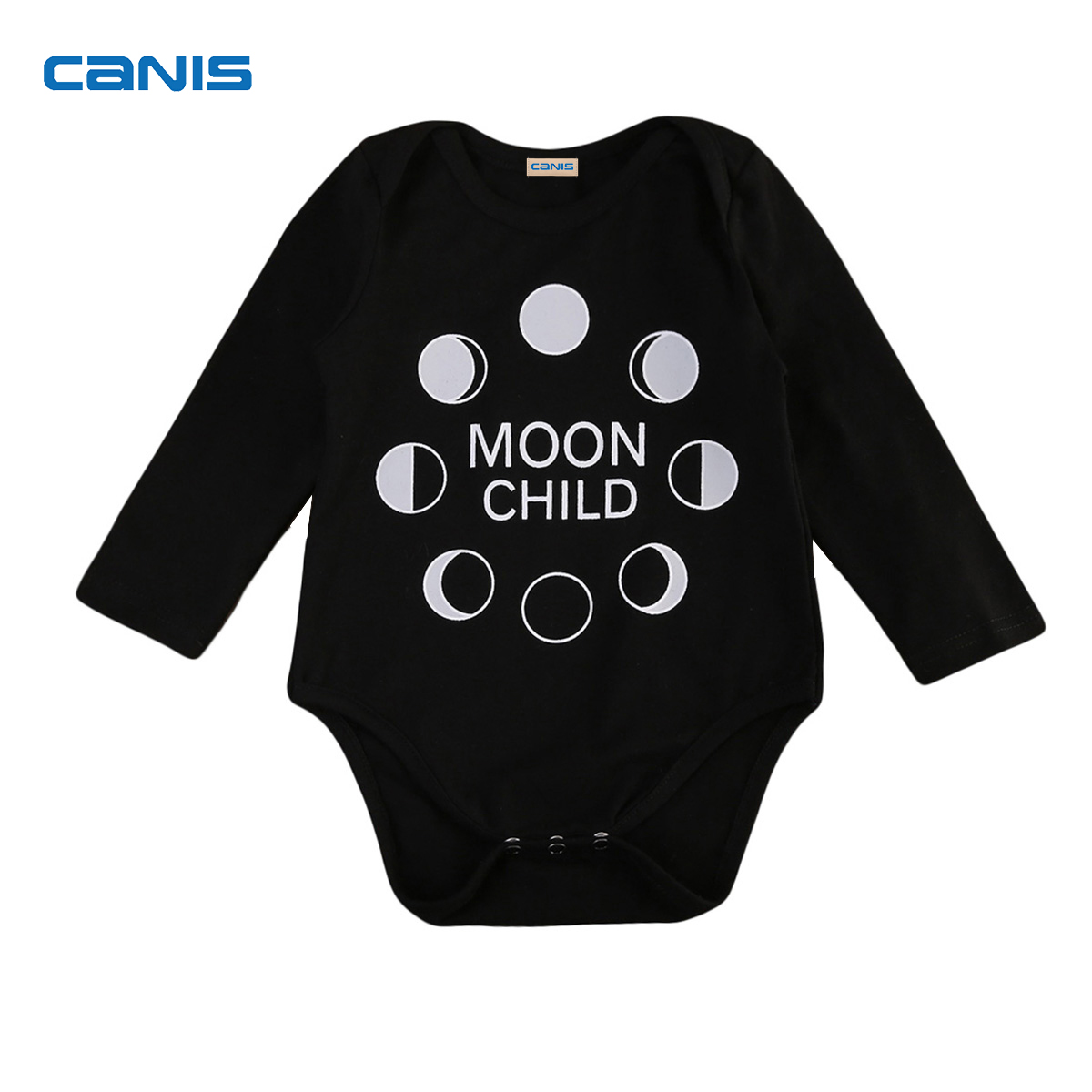 Baby DD Store 2017 Brand New Toddler Infant Newborn Baby Boys Girls Long Sleeve Bodysuit Moon Printed Jumsuit Autumn Outifits Casual Clothes