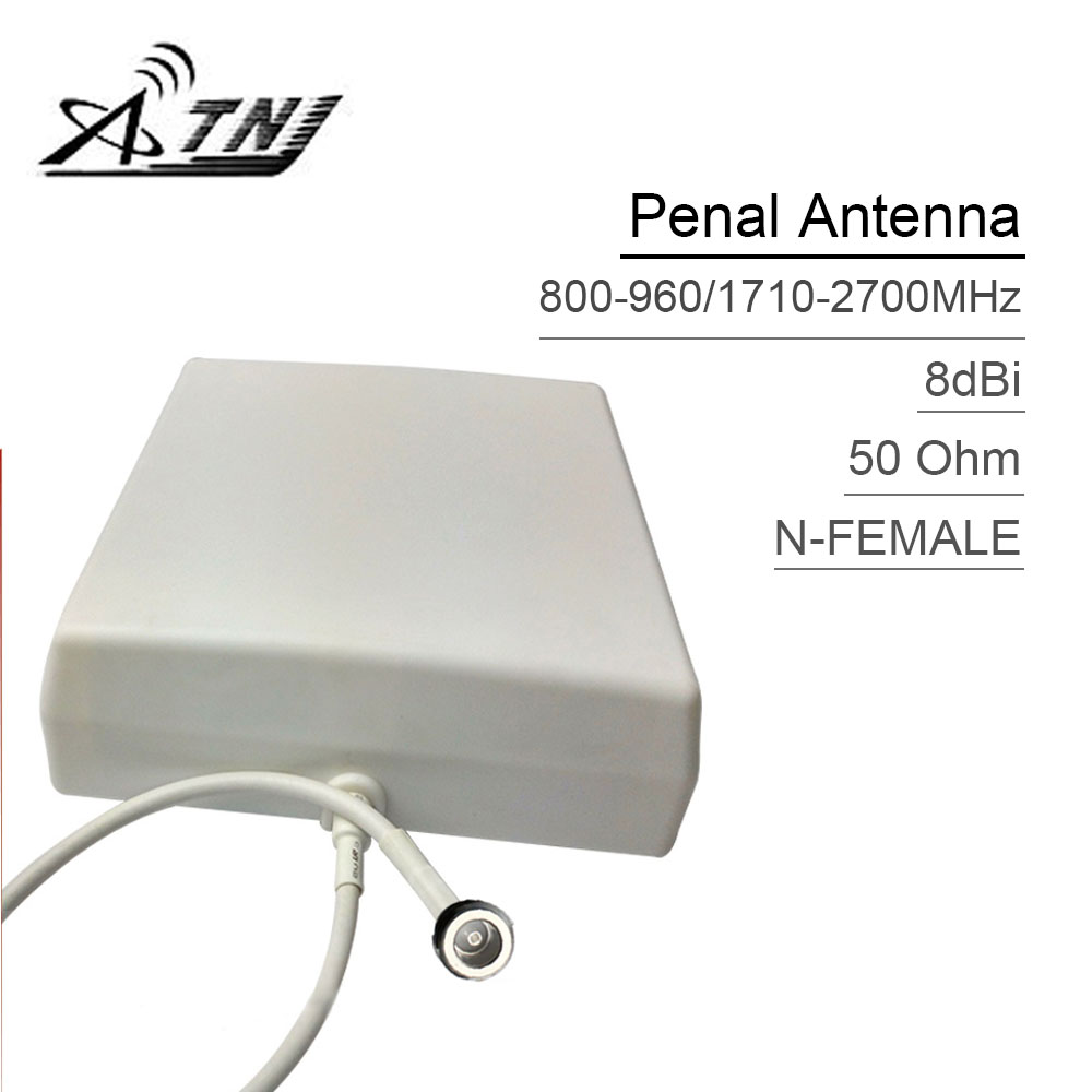 ATNJ Outdoor Penal Antenna For 2G 3G 4G Mobile Phone Signal Booster Repeater 800-2500mhz 3dBi Gain With 0.3m Cable Top Quality