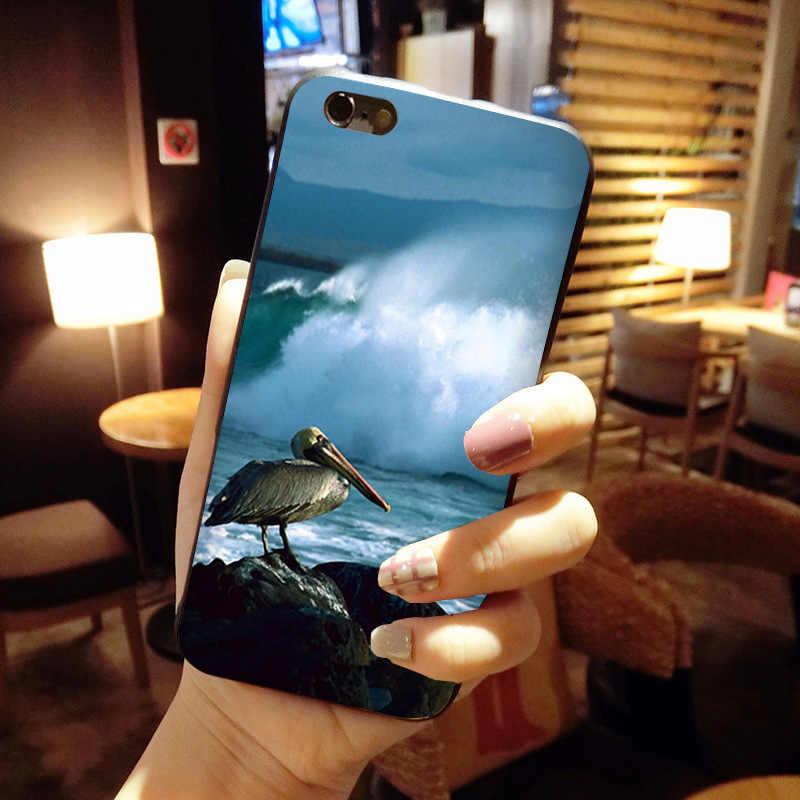 MaiYaCa Dier Vogel Bruin Pelikaan Luxe Cool Telefoon Accessoires Case voor iPhone 8 7 6 6 s Plus X 10 5 5 s SE 5C Coque Shell