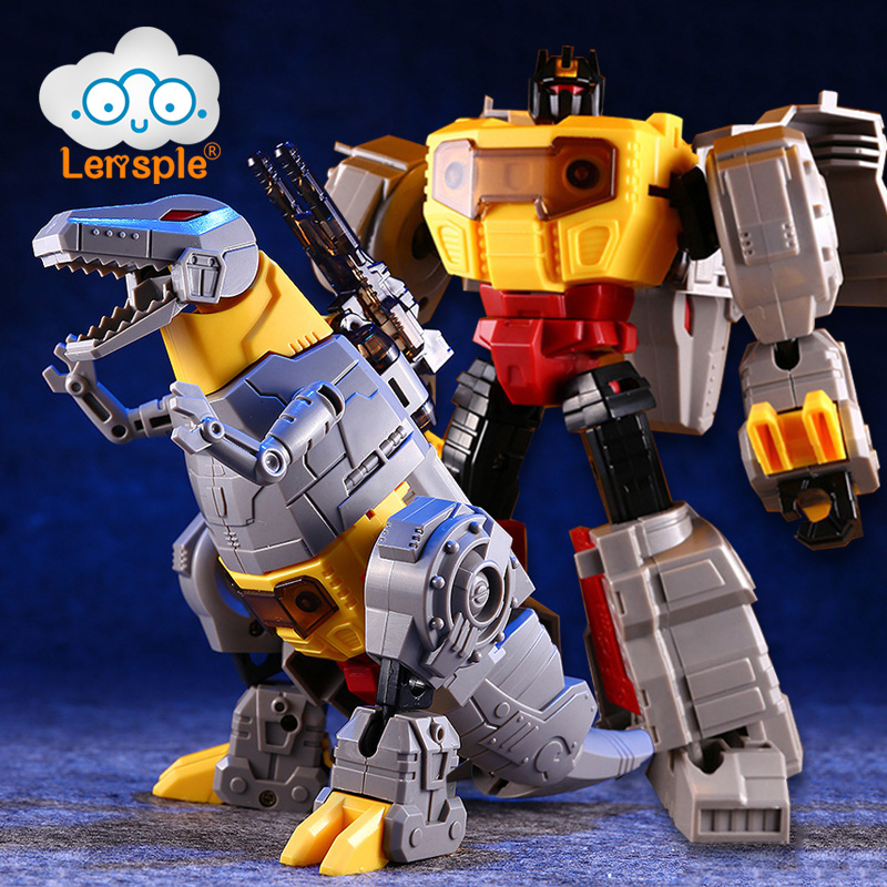 Lensple Assembled Dinosaur Model Transformation Robot Deformation Toys Grimlock G1 Action Figure Best Birthday Gifts For Kids weijiang deformation mpp10 e mpp10 eva purple alloy diecast oversized metal part transformation robot g1 figure model in box