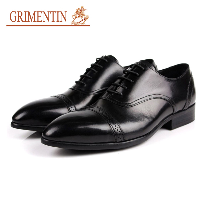 GRIMENTIN italian men business shoes genuine leather lace up mens formal shoes 2019 hot sale brand wedding shoesGRIMENTIN italian men business shoes genuine leather lace up mens formal shoes 2019 hot sale brand wedding shoes