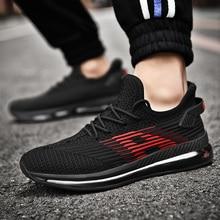 цены на Mens Summer Sneakers Comfortable Running Shoes For Man Breathable Sport Shoes For Men Black White Man Sneakers Sports Shoes  в интернет-магазинах