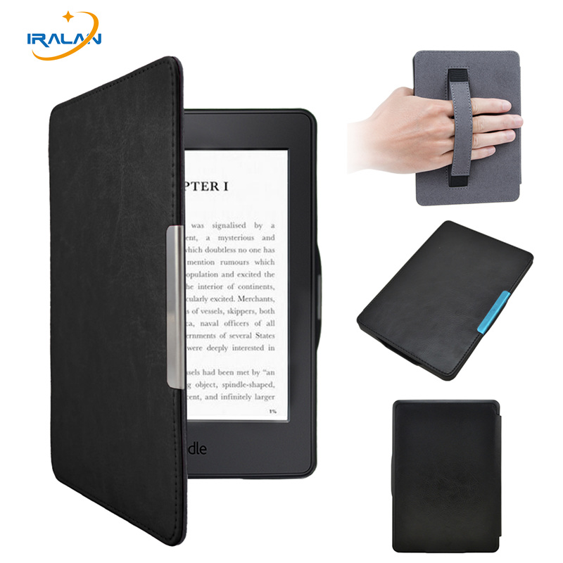 Hot pu leather with Handholder case for Amazon kindle paperwhite 1 2 3 6'' 2013 2015 ereader smart cover+screen protector+stylus kindle paperwhite 1 2 3 case e book cover tpu rear shell pu leather smart case for amazon kindle paperwhite 3 cover 6 stylus