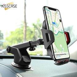KISSCASE uniwersalny uchwyt samochodowy na telefon dla iPhone 11 6 7 8 XR uchwyt samochodowy dla Xiaomi Huawei elastyczny samochód stojak uchwyt na Samsunga w Uchwyty i podstawki do telefonów komórkowych od Telefony komórkowe i telekomunikacja na