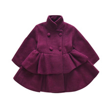 купить Winter Outerwear Girls Wool Winter Coats Wool Coat For Girls Winter Coat Girls Blends Jackets Double Breasted Clothing дешево