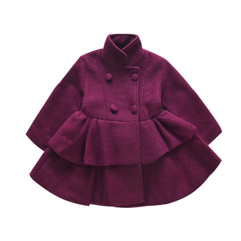 Winter Outerwear Girls Wool Winter Coats Wool Coat For Girls Winter Coat Girls Blends Jackets Double Breasted Clothing big girls denim trench coats double breasted letter jackets for girls outerwear brand 2017 children clothing 4 13 years