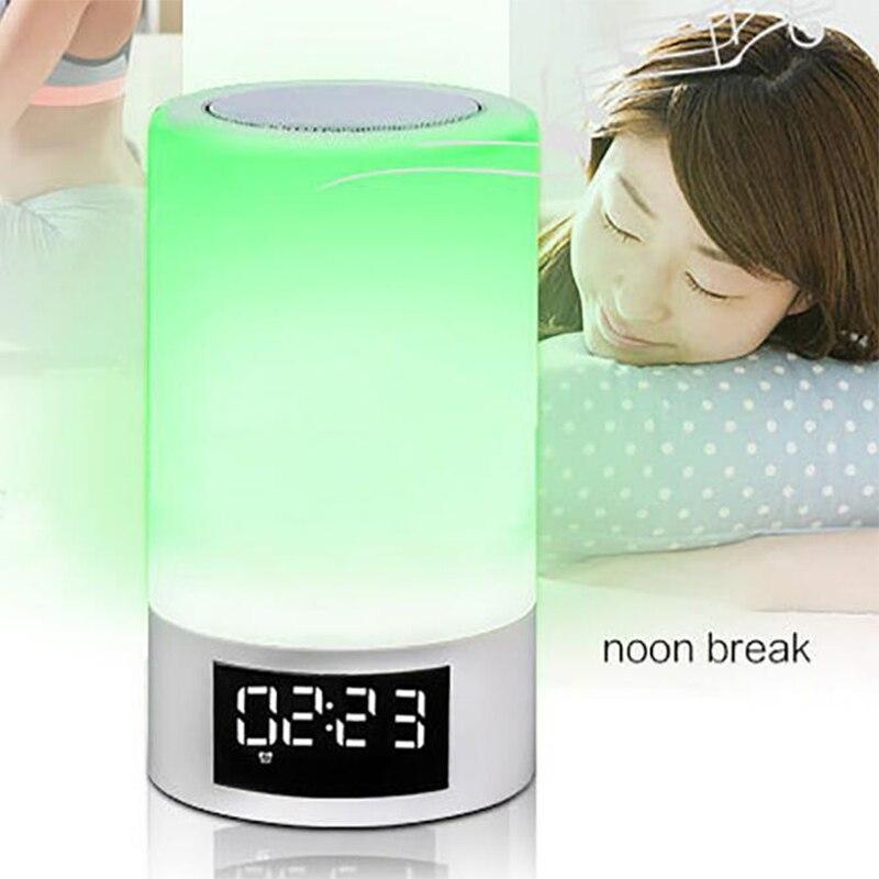 Led colorido luz da noite toque bluetooth de áudio casa inteligente lâmpada alto falante atmosfera emocional - 2