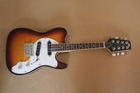 Custom Shop 8 Strings Morgan Monroe T Style sunburst Electric Mandolin Solid Body MMT 1E, 20 Frets electric guitar 15 11 10