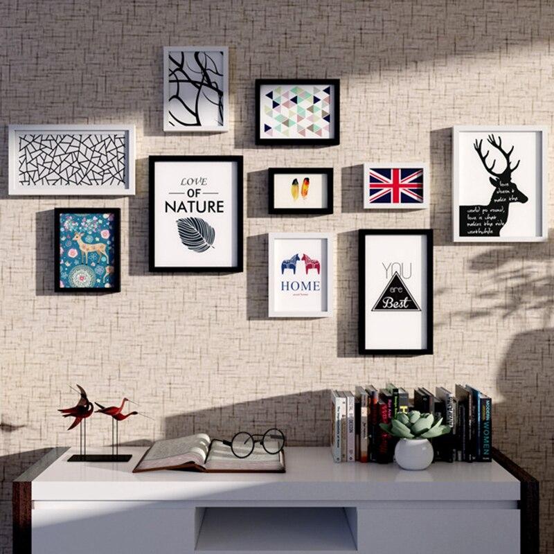 Moderne Holz Bilderrahmen mit Bilder 10 Stück Kombination Hause Wand ...