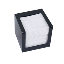 Black Acrylic Tissue Box, Storage Holder, Square Dispenser TB006