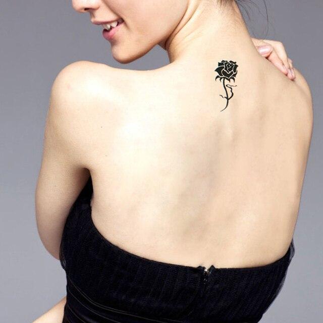 1 Piezas Pequeño Blanco Y Negro Pegatinas De Tatuajes Impermeable