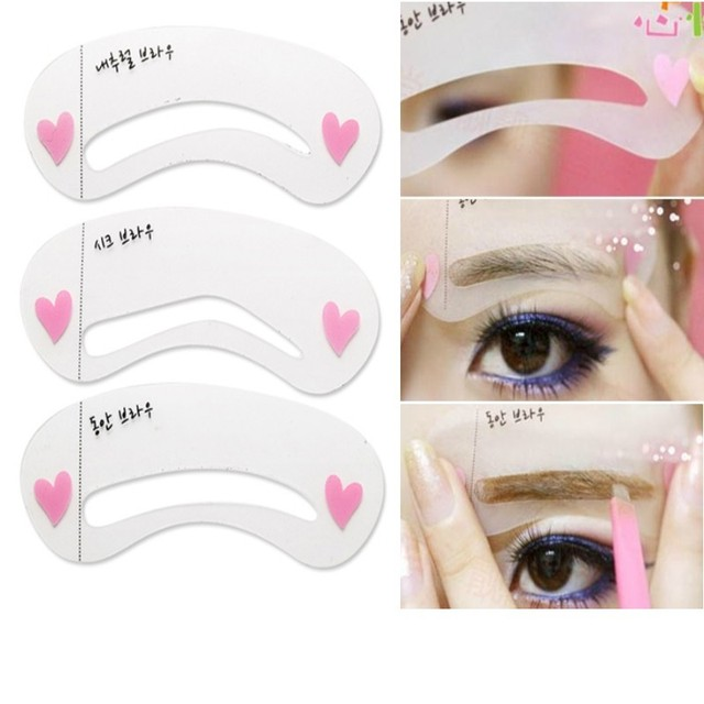 3Pcs/set Thrush Card Threading A Word Eyebrow Makeup Tools Threading Artifact Thrush Aid Card Eyebrows Mold Cosmetic Accessories