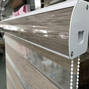 Image 5 - Custom Made 80% Blackout Dubbele Laag Roller Zebra Blinds Gordijnen Voor Woonkamer 12 Kleur Zijn Beschikbaar