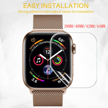 Screen 40/44/38/42mm PET Full Coverage Protective Film For iwatch Apple Watch Series 1/2/3/4 Screen Protector Cover