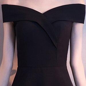 Image 4 - DongCMY שחור לנשף שמלת 2020 חדש הגעה אופנה סימטרי קצר מפלגה שמלה