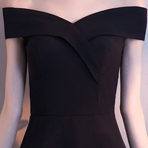 Image 4 - DongCMY Black Prom dress 2020 new arrival fashion Asymmetrical short Party Gown