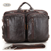 купить J.M.D New Arrivals Genuine Vintage Leather Men Handbag 15'' Laptop Bag Messenger Bag Multifunctional Business Briefcase 7014C-2 в интернет-магазине