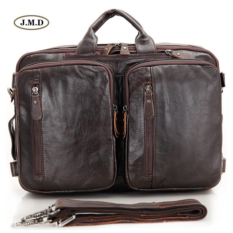 Vintage Dark Leder Neuheiten Jmd Echtes 15 ''laptop Männer Business Tasche Coffee Aktentasche Handtasche 7014c Multifunktionale Umhängetasche 2 FBTqEA