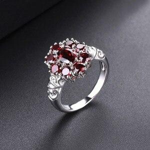 Image 5 - Hutang обручальные кольца с красным гранатом из стерлингового серебра 925 пробы, кольцо с натуральным драгоценным камнем, изящное элегантное ювелирное изделие для женщин, лучший подарок, Новинка