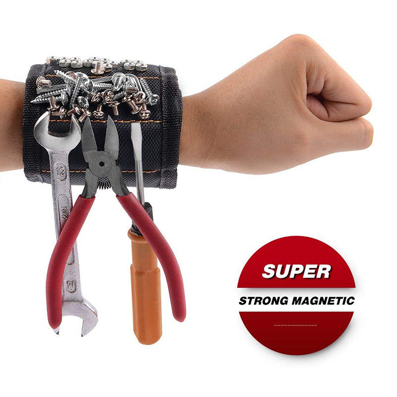 Super Magnetic Wristbands Magnets Holding Scissors Tools Home Improvement Male Female Breathable Wrist Strap Pickup Repair Tools