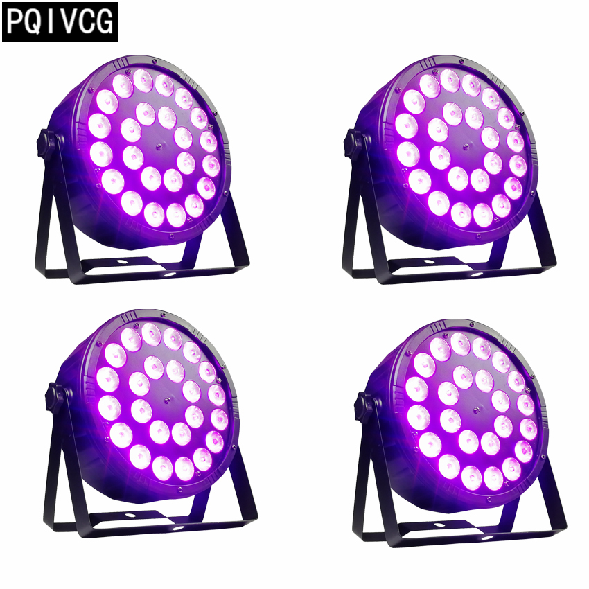4pcs lot 24x12w rgbw led par light rgbw 4in1 dmx512 plastic par light professional stage dj