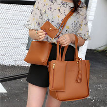 Women Bags Set Tote Handbag +Shoulder Bag +Messenger blosa +Day Clutch Four Pieces Tote Bag Crossbody Wallet Bags(China)