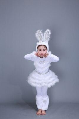 Детский костюм с милым кроликом платье для танцев платье для костюмированной вечеринки с кроликом для взрослых девочек 100-160 см(S-3XL - Цвет: rabbit mother