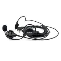 uv 5r uv ניו 2 פין אפרכסת מיקרופון אצבע PTT אוזניות עבור Kenwood Baofeng רדיו UV-5R 777 888s WOUXUN HYT PUXING איכות גבוהה C2014A (4)