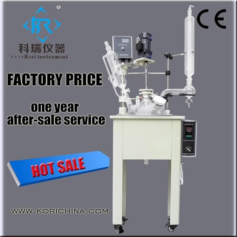 Anti corrosive Material Vacuum Bioreactor Lab equipment 10l Mixing reactor