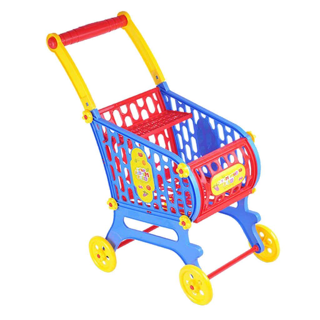 Mini Kunststoff Supermarkt Warenkorb Korb, Kinder Kleinkind Rolle Pretend Spielen Spielzeug Phantasie Kinder Geburtstag Geschenk-25x36x52cm