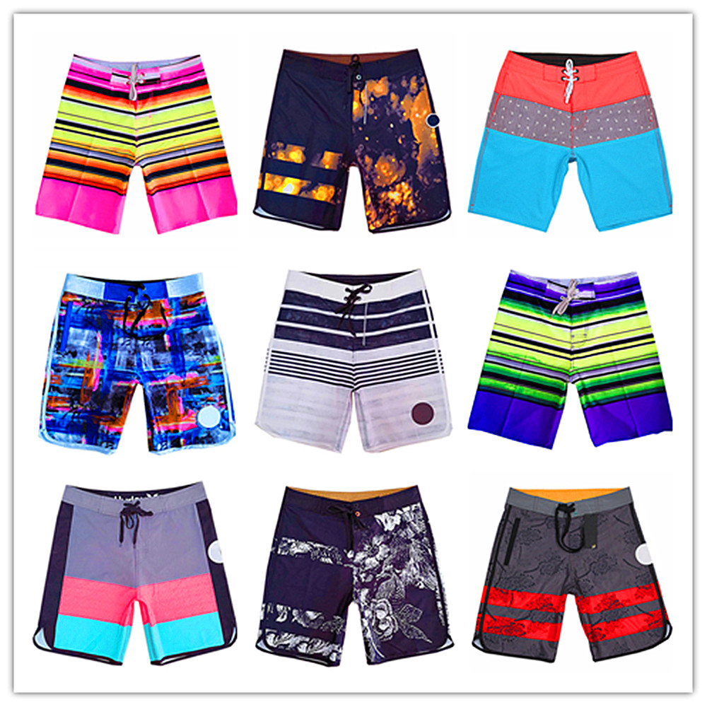 2019 Brand Elastic Swimwear Phantom Beach   Board     Shorts   Men 100% Quick Dry Bermuda Male Boardshorts Sexy Adult Spandex Sportswear