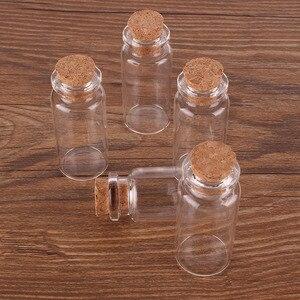 Image 3 - 100 шт., 10 мл, размер 22*50*12,5 мм, стеклянная мини парфюмерия, специи, брикет с пробкой, подвеска, ремесла, свадебный подарок
