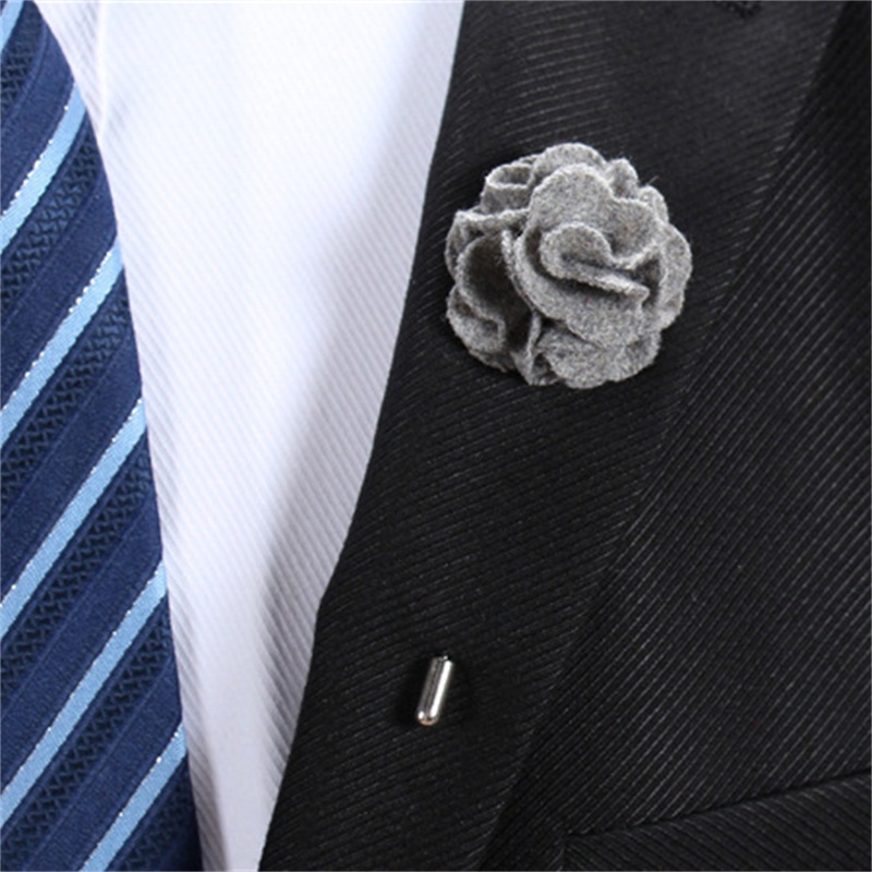 Mdiger Fashion Handmade Fabric Brooch Wedding Brooch Bouquet Gentlemen Lapel Pins Flower Brooch for Men Suit Men Lapel Pin in Brooches from Jewelry Accessories