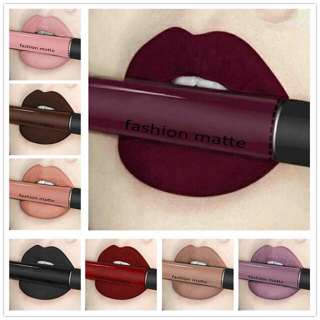 Beautybigbang איפור שפתון מט שפתון חום עירום שוקולד צבע שפתון נוזלי גלוס מט Batom