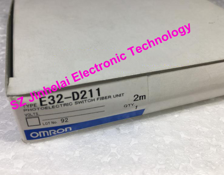 100%New original E32-D211,E32-ZC31   2M  OMRON  PHOTOELECTRIC SWITCH FIBER UNIT dhl ems 5 sests new in box for omron plc e32 d21b e32d21b photoelectric switch fiber unit