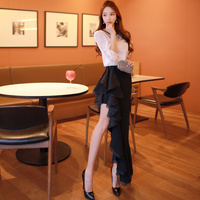 Dabuwawa Fashion High Waist Black Fishtail Skirt
