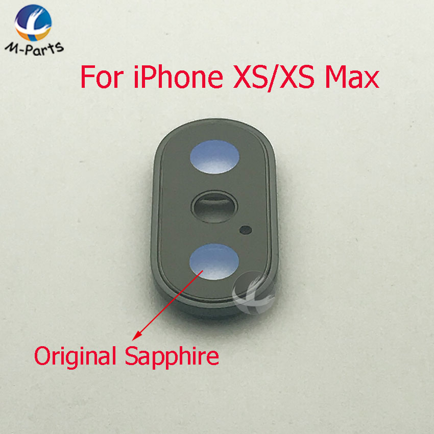 1pc 100% Original Sapphire For IPhone X XS XS Max XSM XR Back Camera Cover Lens Crystal Protector Glass Lens + Frame Quality AAA