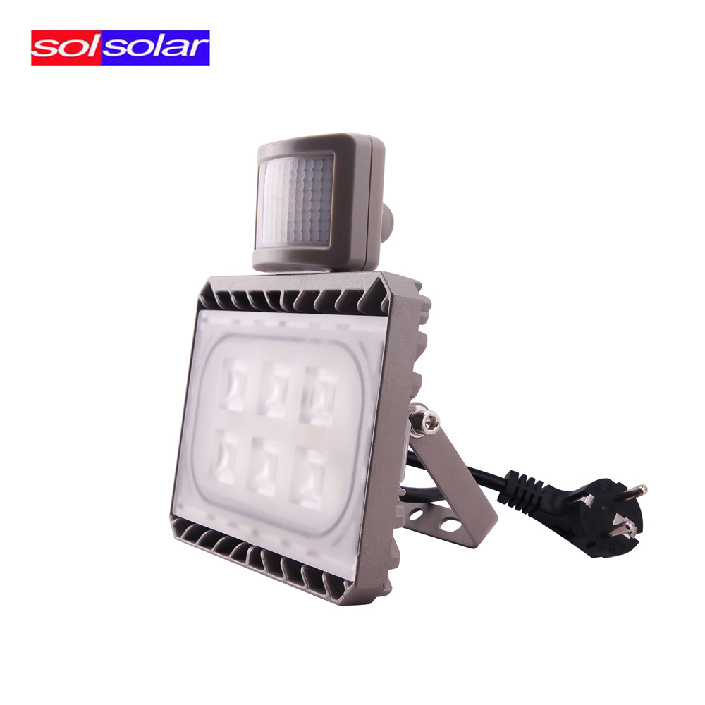 ФОТО 30W Cree PIR Sensor LED Flood Light  Motion Sensor Outdoor Lighting AC 100-240V Waterproof IP65 Floodlight Spotlight Sensor Lamp