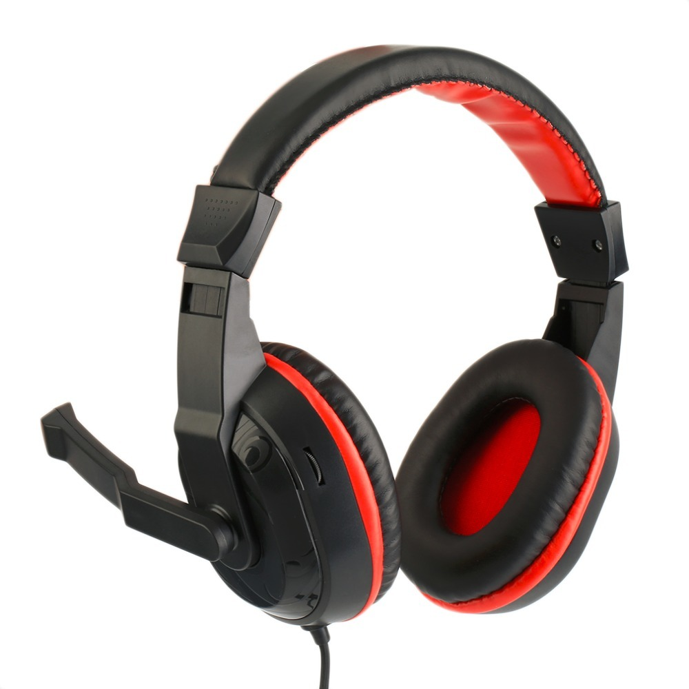 NEW 3.5mm Adjustable Gaming Headphones Stereo Type Noise-canceling Computer PC Gamers Headset With Microphones