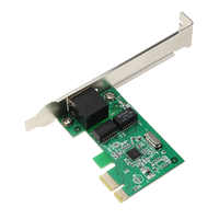 Gigabit Ethernet LAN Low Profile PCI Express (PCIe) controlador de rede Cartão 10/100/1000 m RJ-45 RJ45 LAN Adapter Converter Para PC