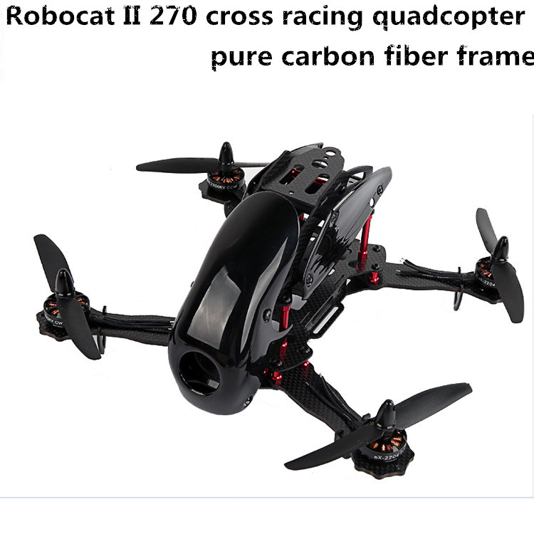 DIY FPV mini drone Robocat II 270 cross racing quadcopter empty frame unassembled full carbon fiber robocat 270mm 4 axis glass fiber racing mini quadcopter frame with hood cover unassembled