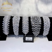 New Rhinestone Zirconia 15 Designs Big Tiara Silver Fashion Headband Royal Bridal Wedding Dressing Crown Accessory Women Jewelry