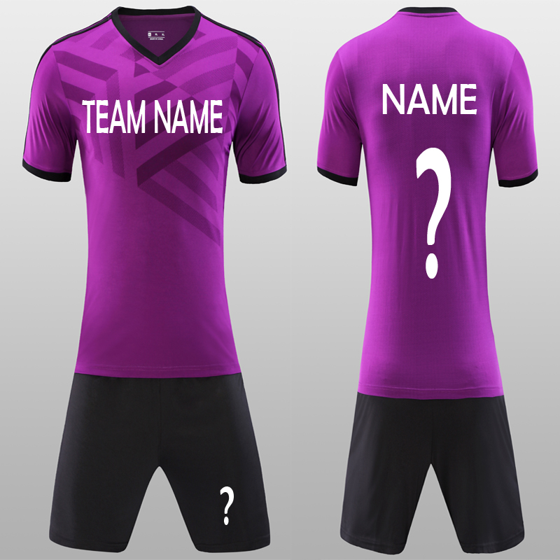 122380148be Beautiful Purple Men s Blank Soccer Jerseys Set New 18 Can Customize  Football Club Adult Soccer Uniforms Kit Shirt Free Shipping